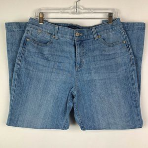 Talbots Simply Flattering Mid Rise Crop Size 10